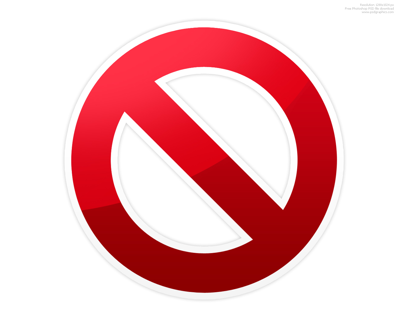 Do Not Use Symbol
