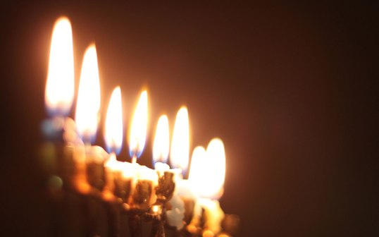 Seven-Candles-Burning-Widescreen-Wallpaper